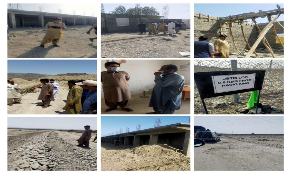 Turbat-Deputy Commissioner Hussain Jan Baloch is Visiting in Tump for Planning Development sector.